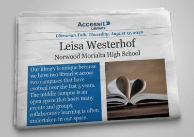 Librarian Talk – Leisa Westerhof – Norwood Morialta High School