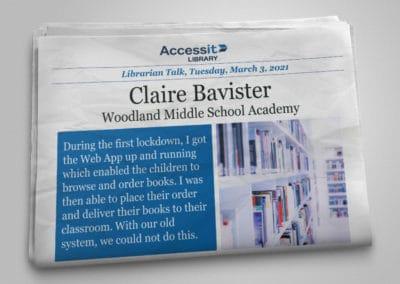 Librarian Talk – Claire Bavister – Woodland Middle School Academy