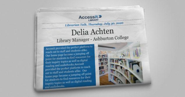 Delia Achten school library software user story