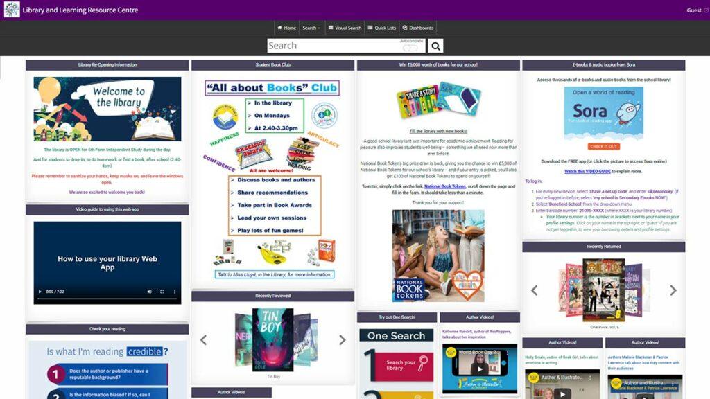 Denefield School Web App Homepage