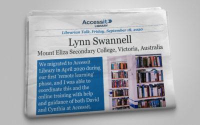 Lynn Swannell – Mount Eliza Secondary College, Victoria, Australia