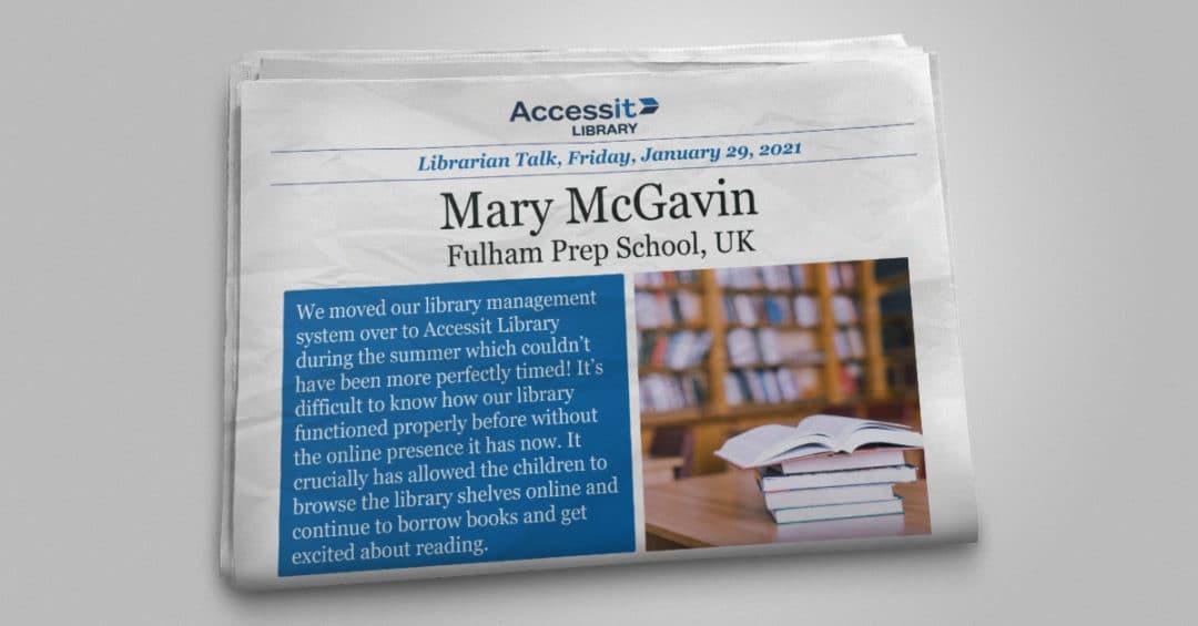 Librarian Talk – Mary McGavin – Fulham Prep School
