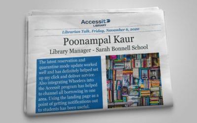 Librarian Talk – Poonampal Kaur – Sarah Bonnell School