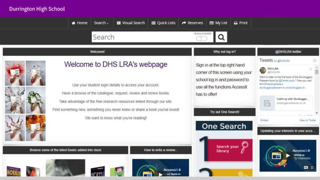 Web App of the Week Durrington High School