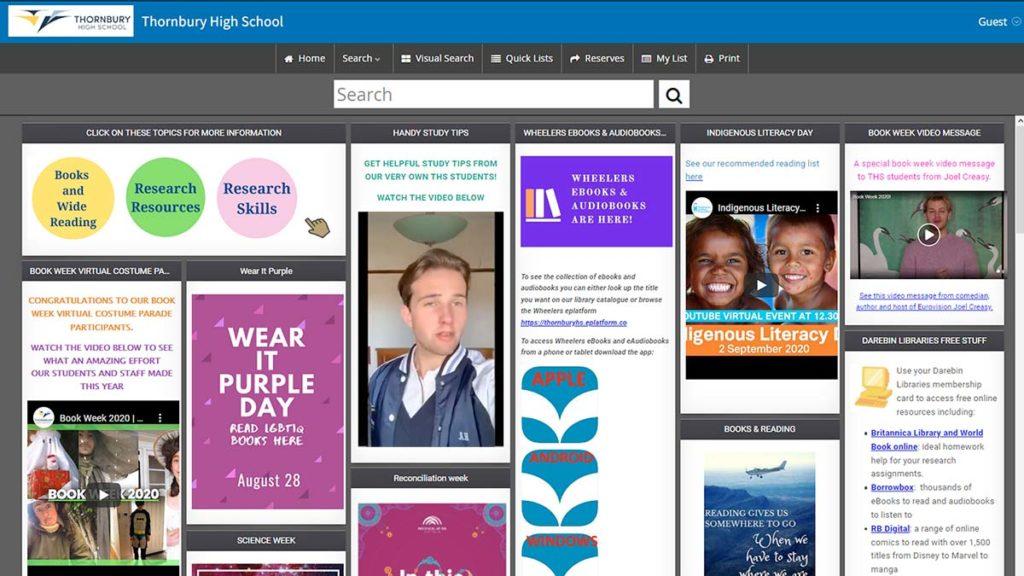 Web App of the Week - Thornbury High School Preview