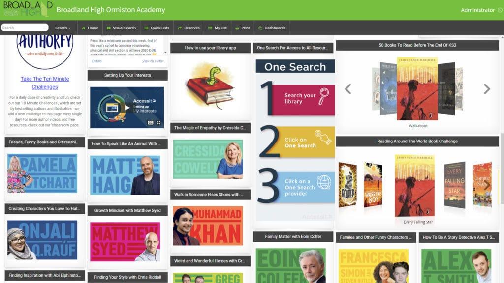 Broadland High Ormiston Academy school library software catalogue