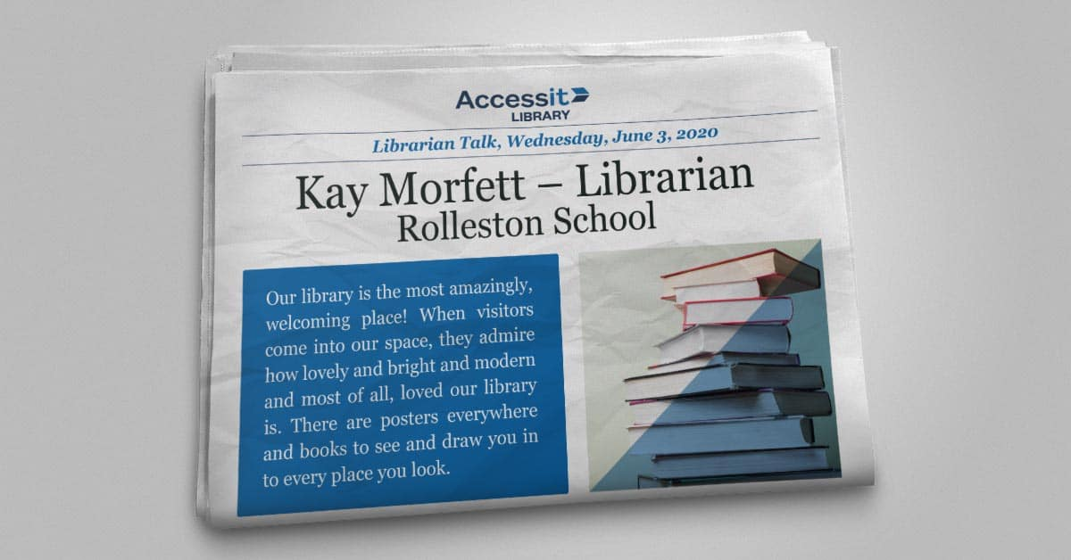 Kay Morfett school library management software user story